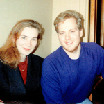 Oksana Kikhtenko (ACTR) & Bryce Rich (IREX) in Novosibirsk, 1994