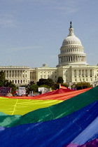 rainbow flag at the U.S. Capitol