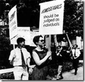 Barabara Gittings at the Philadelphia picket
